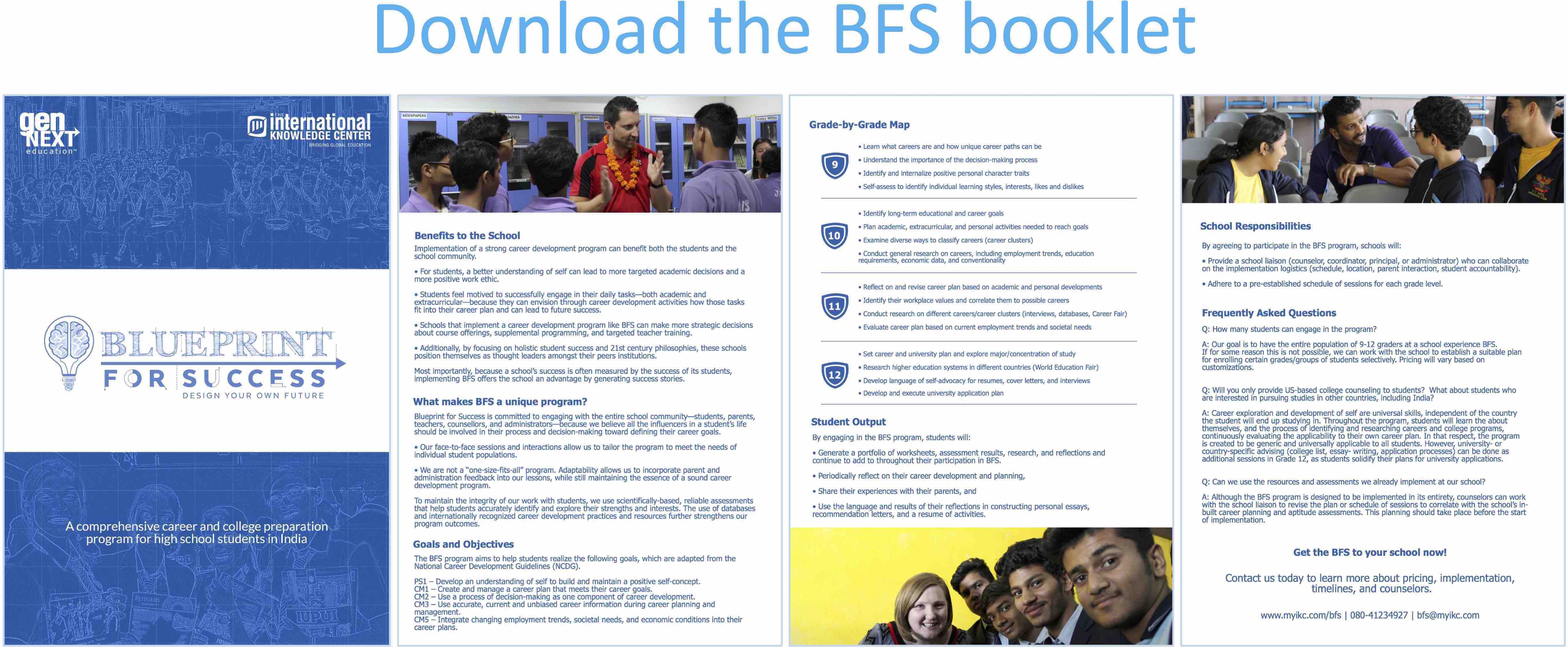 Blueprint for success bfs international knowledge center get the bfs to your school now malvernweather Choice Image